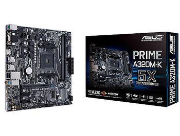Placa de baza ASUS PRIME A320M-K A320, AM4, Dual DDR4 3200MHz, PCI-E 3.0/2.0 x16, HDMI/RGB, USB 3.1, SATA RAID 6Gb/s, M.2 x4 Socket, SB 8-Ch., GigabitLAN, LED lighting, (placa de baza/материнская плата)