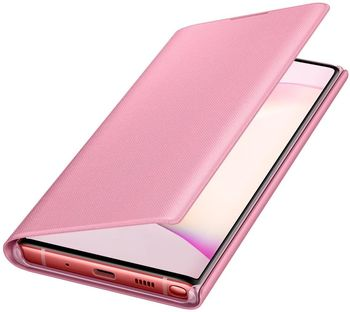 купить Чехол для моб.устройства Samsung Galaxy Note 10 ,EF-NN970 LED View Cover Pink в Кишинёве