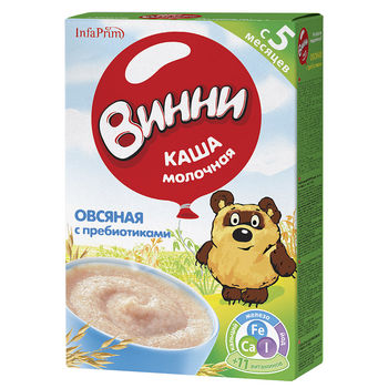 купить Винни каша овсяная молочная, 5+мес. 200г в Кишинёве