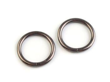 Inel metalic, Ø25 mm, nichel negru