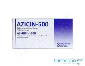 купить Azicin-500 comp. film. N3 (Азитромицин) в Кишинёве