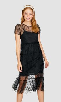 Платье Stradivarius Чёрный 6275/626/001