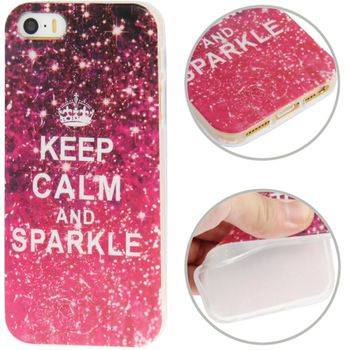 Чехол для iPhone 5 / 5S Keep Calm and Sparkle