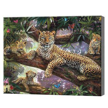 Алмазная мозаика 40х50см Леопарды на ветках артикул: S185