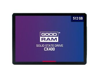 "2.5"" SSD 512GB  GOODRAM CX400, SATAIII, Sequential Reads: 550 MB/s, Sequential Writes: 490 MB/s, Maximum Random 4k: Read: 77,500 IOPS / Write: 85,000 IOPS, Thickness- 7mm, Controller Phison PS3111-S11, 3D NAND TLC"