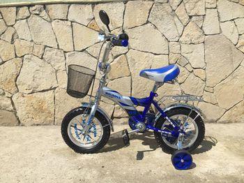 "Велосипед 2-х колёсный 12"" (синий) Арт. MD12"