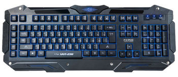 "MARVO ""Ice Dragon VAR-236"", Gaming Lighting Keyboard, 110 keys, 5 programmable keys, 3 color lightings both on backlight and typeface, Weighting plate, Braided cable, USB, Black"
