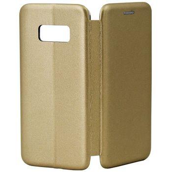 купить Чехол Senno Flip Cover Leather  Samsung S8, Gold в Кишинёве