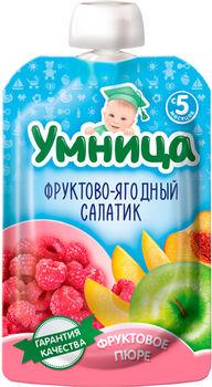 cumpără Umnitsa piure din salată de fructe, 5 luni, 100 gr în Chișinău
