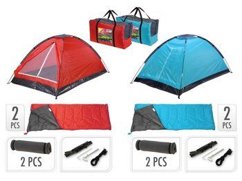 Комплект для кэмпинга:палатка 200X120X100cm, 2спальника