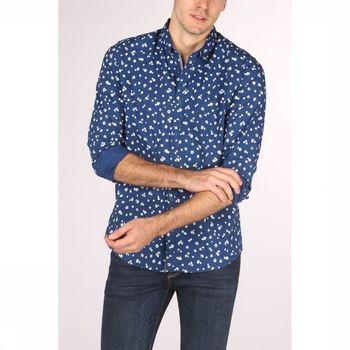 Рубашка TOM TAILOR Синий в цветочек 1013180 tom tailor
