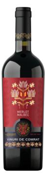 """Vinuri de Comrat Folclor """"Merlot Malbec""""  sec roșu,  0.75 L"""