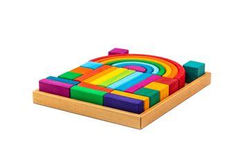 купить Marc Toys деревянная игрушка блоки радужные в Кишинёве