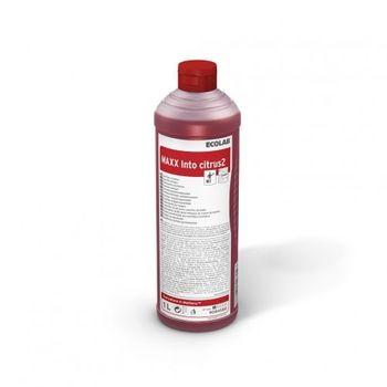 MAXX2 INTO CITRUS (1L) - сильно кислотное моющее средство для ежедневной уборки в туалетах