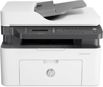 """All-in-One Printer HP LaserJet Pro MFP 137fnw, White, A4, Fax up to 20ppm, 128 MB, 40-sheets ADF, 2,7"""" touch LCD, 600dpi, up to 10000 pages, PCLmS, URF, PWG, HP ePrint, Hi-Speed USB 2.0, Fast Ethernet 10/100Base-TX, Wi-Fi 802.11b/g/n, (W1106A)HP 106A"""