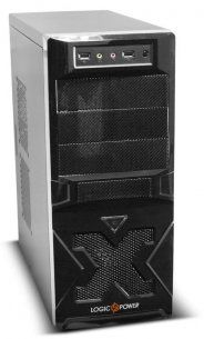 LogicPower 4006 (4 series) ATX Case, (450W, 24 pin, 2xSATA, 12cm fan), SECC material, 2xUSB/Audio, Black