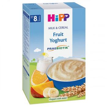 купить Hipp каша пшеничная молочная с пробиотиками, фрукты и йогурт, 8+мес. 250г в Кишинёве