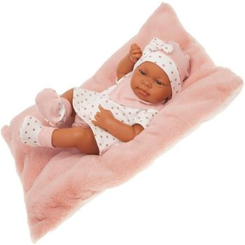 Кукла младенец мулатка с подушечкой 42 см Код 5030