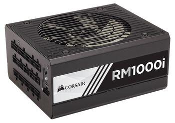 PSU Corsair RMi Series™ RM1000i, 1000W, ATX 2.4, 80 PLUS® Gold, Active PFC, Fully Modular, 135mm fan, Zero RPM Fan Mode, Corsair Link Digital, Configurable +12V rail, +12V (83.3A), 20+4 Pin, 2xEPS(4+4Pin), 12xSATA, 8xPCI-E(6+2pin), 11x Periph., Black