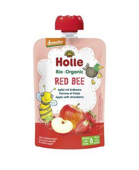 Пюре Red Bee с яблоком и клубникой с 8 месяцев Holle Bio Organic, 100 г