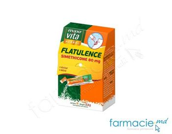 купить Flatulence (simeticona 80mg,extract de anason,menta) plic N16 MaxiVita в Кишинёве