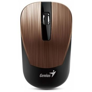 Mouse Genius NX-7015 Rosy Brown, Metallic style, Wireless 2.4GHz Optical Mouse, Nano receiver, 800/1200/1600 dpi, Extends battery life up to 18 months, Battery Low Indicator, Rubber hand grip, Slot receiver, USB, Rosy Brown
