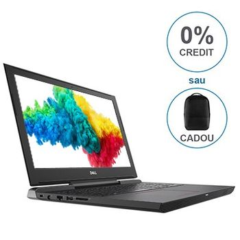 "DELL Inspiron Gaming 15 G5 Black (5587), 15.6"" IPS FullHD (Intel® Hexa-core™ i7-8750H 2.20-4.10GHz (Coffee L), 16GB(2x8) DDR4 RAM, 1.0TB+256GB SSD,GeForce® GTX1060 6GB DDR5, CardReader,WiFi-AC/BT5.0,4cell,HD720p Webcam,Backlit KB, RUS,Ubuntu,2.61 kg)"