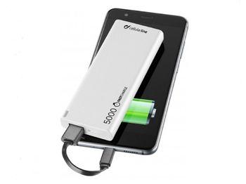 купить Внешний аккумулятор Cellularline Slim 5000mAh, White в Кишинёве