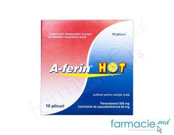 купить А-ферин Хот, пак.N10 порошка/раствор для приема внутрь 500+60 мг в Кишинёве