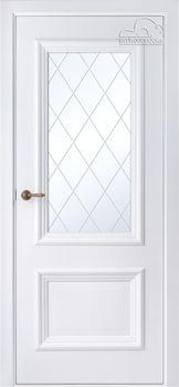 купить Дверь ФРАНЧЕСКО Эвопро белый остекленная в Кишинёве