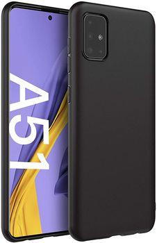 купить Чехол ТПУ Samsung Galaxy A51 2020(A515), Solid Black в Кишинёве
