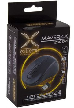 Extreme MAVERICK XM104K, Wireless Optical Mouse, 2.4GHz, 1000 dpi, Nano Reciver, USB, Black