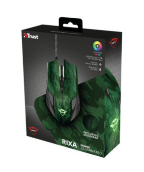 Mouse Trust GXT 781 Rixa Camo + Mouse Pad, Camouflage