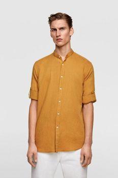 Рубашка ZARA Горчичный zara 7545/305/652