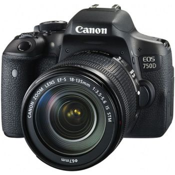 купить Canon EOS 750D Kit, 24.7Mpix EF-S 18-135 IS CMOS-22.3x14.9mm Li-Ion в Кишинёве