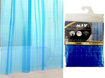Шторка для душа 180X200cm EVA 3D синяя
