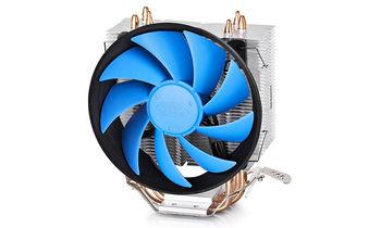 "DEEPCOOL Cooler ""GAMMAXX 300"", Socket 1366/1155/775 & FM1/AM3/AM2+, up to 130W, 120х120х25mm, 900~1600rpm, 17.8~21dBA, 55.5CFM, 4 pin, PWM, Hydro Bearing, 3 heatpipes direct contact"