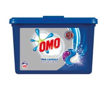 купить Omo Ultimate Trio Capsule Active Clean, 40 шт. в Кишинёве