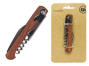 Штопор официанта+открывалка EH 11cm, деревянная ручка