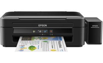 MFD Epson L382 Colour Printer/Scanner/Copier, A4, Print 5760x1440dpi_3pl, Scan 600x1200dpi, ESAT 33/15 ipm,64-255г/м2, 4 Ink Toner T6641Bk, T6642C, T6644Y, T6643M - 70ml (bk-4500/color-7500pag.), USB2.0