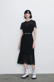 Платье ZARA Чёрный 9878/169/800