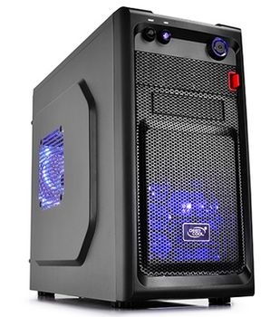 "DEEPCOOL ""SMARTER LED"" Micro-ATX Case,  without PSU, Fully black painted interior, VGA Compatibility: 320mm, CPU Cooler Compatibility: 165mm, support backplate cable management design, 1x 2.5"" Drive Bays, 1xUSB3.0, 1xUSB2.0 /Audio, Black"