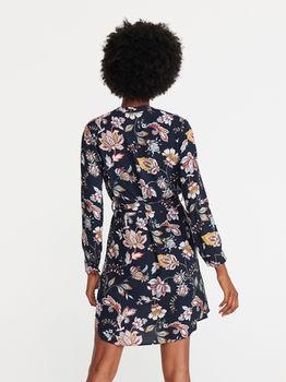 Платье RESERVED Темно синий с принтом xe433-mlc