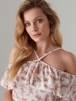 Платье MOHITO Белый с принтом