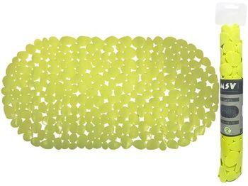 Коврик для ванны 35X68cm MSV Galets овал, зелeный, PVC
