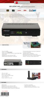 cumpără OPTICUM LION 5-M Hybrid DVB-T2/DVB-C H.265 în Chișinău