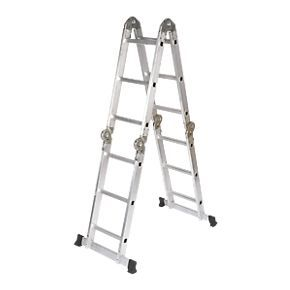 купить Многофункциональная лестница из алюминия 4x30, 1610/3300 мм в Кишинёве