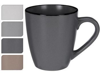 Чашка 220ml H9cm Black Rim, керамика