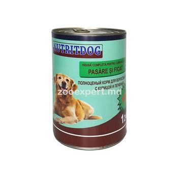 Nutritdog курица и печень 1240 gr