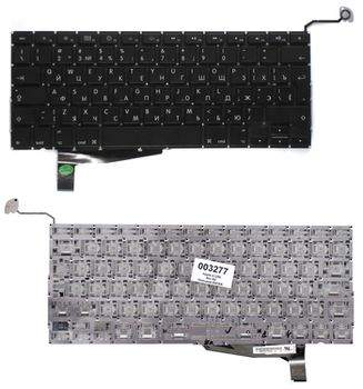 "Keyboard Apple Macbook Pro 15"" A1286 (2008) w/o frame ""ENTER""-big ENG/RU Black"
